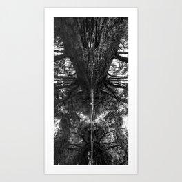Creekside b&w Art Print