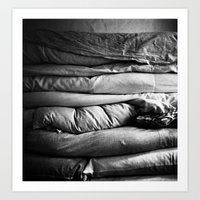bed Art Prints featuring bed by Dasha