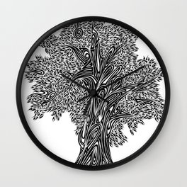 Gnarled Oak Tree Wall Clock
