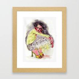 Just sitting here Framed Art Print
