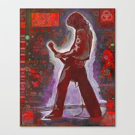 Rock and Roll in Red Canvas Print