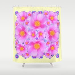 Pink ROSES & CREAM COLOR ART Shower Curtain