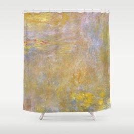 Sea-Roses (Yellow Nirwana) by Claude Monet Shower Curtain