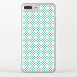Spearmint Polka Dots Clear iPhone Case