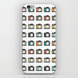 Colourful Camera Icons iPhone Skin
