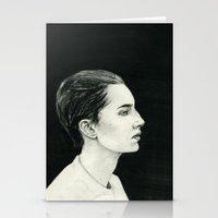 beth hoeckel Stationery Cards featuring Beth by Kalynn Burke