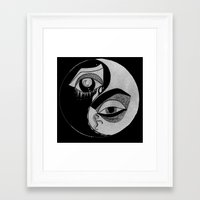ying yang Framed Art Prints featuring ying yang by ivette mancilla