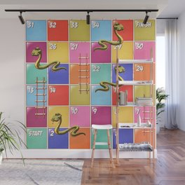 Snakes and Ladders Wall Mural