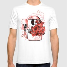Late Bloomer MEDIUM Mens Fitted Tee White