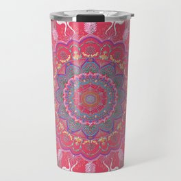 Chanukkah-Chanukah-candelar and angels-mandala-light and joy-life cycle-colors-energy-judaica Travel Mug