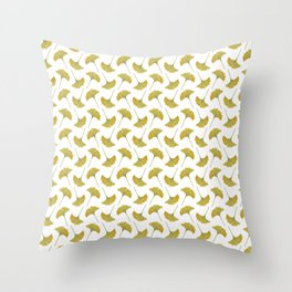 watercolour ginkgo Throw Pillow