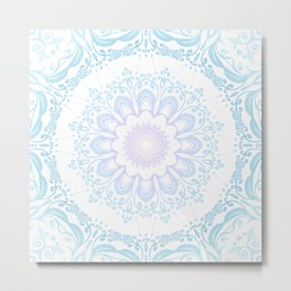 winter sun Mandala Metal Print