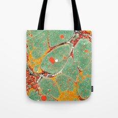 Marbled Green Orange 2A Tote Bag