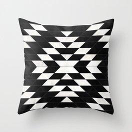 Urban Tribal Pattern No.14 - Aztec - Black Concrete Throw Pillow