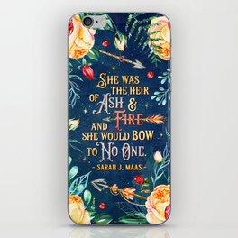 Ash & Fire iPhone Skin