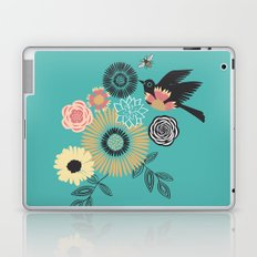 Birds & Bees - Turquoise Laptop & iPad Skin