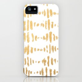Golden Heartbeat iPhone Case