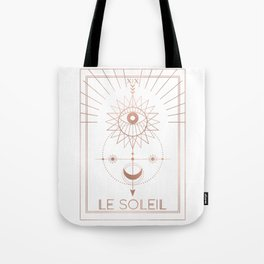 Le Soleil or The Sun Tarot White Edition Tote Bag