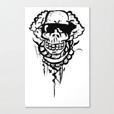 Skater Skull Canvas Print
