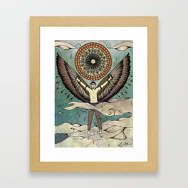 Icarus.  Framed Art Print