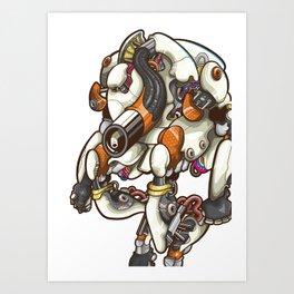 Robo Worker Art Print