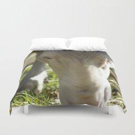 Mary @ Happy Hooves Farm Sanctuary Duvet Cover