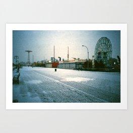 Boardwalk @ Coney Island Art Print