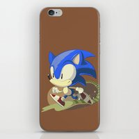 sonic iPhone & iPod Skins featuring Sonic by Rod Perich
