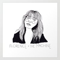 florence Art Prints featuring Florence by ☿ cactei ☿