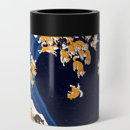 Shiba Inu The Great Wave in Night Can Cooler