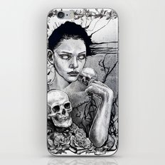 Skull Girl Nouveau iPhone & iPod Skin