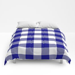 Gingham (Navy Blue/White) Comforters