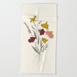 Wildflowers Bouquet Beach Towel