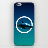 shark iPhone & iPod Skins featuring Shark. by POP.