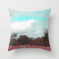 sofa Throw Pillows featuring Sofa Solitude by KClark Photography