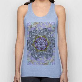 Flower tangle Unisex Tank Top