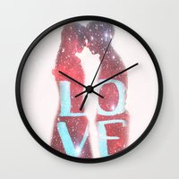 lovers Wall Clocks featuring Lovers by EclipseLio