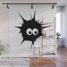 Cute monster furry Wall Mural