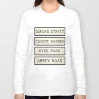 calendars Long Sleeve T-shirts featuring London by Shabby Studios Design & Illustrations ..