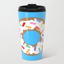 DONUT - VECTOR GRAPHIC Metal Travel Mug