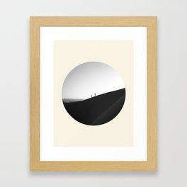Zen Minimalist Desert Dune Framed Art Print
