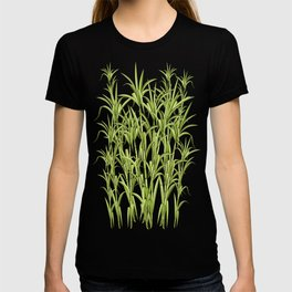 Sugar Cane Exotic Plant Pattern T-shirt