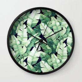 Banana leaves III Wall Clock