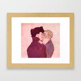 Johnlock Kiss Framed Art Print
