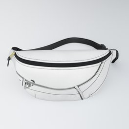 Yacht. Black & White Photography. Fanny Pack