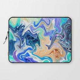 modern blue purple pattern Laptop Sleeve