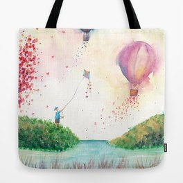 A Happy Day Watercolor Illustration Tote Bag