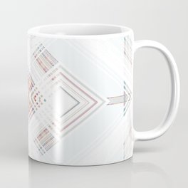 White Lines Digital Design Coffee Mug