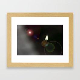 White Catapillar Framed Art Print