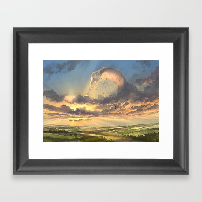 made of air Framed Art Print